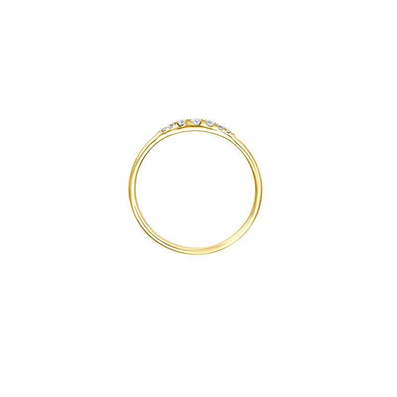 Minimal Diamond Ring - Gelbgold mit Brillanten
