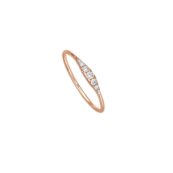 Minimal Diamond Ring - Roségold mit Brillanten