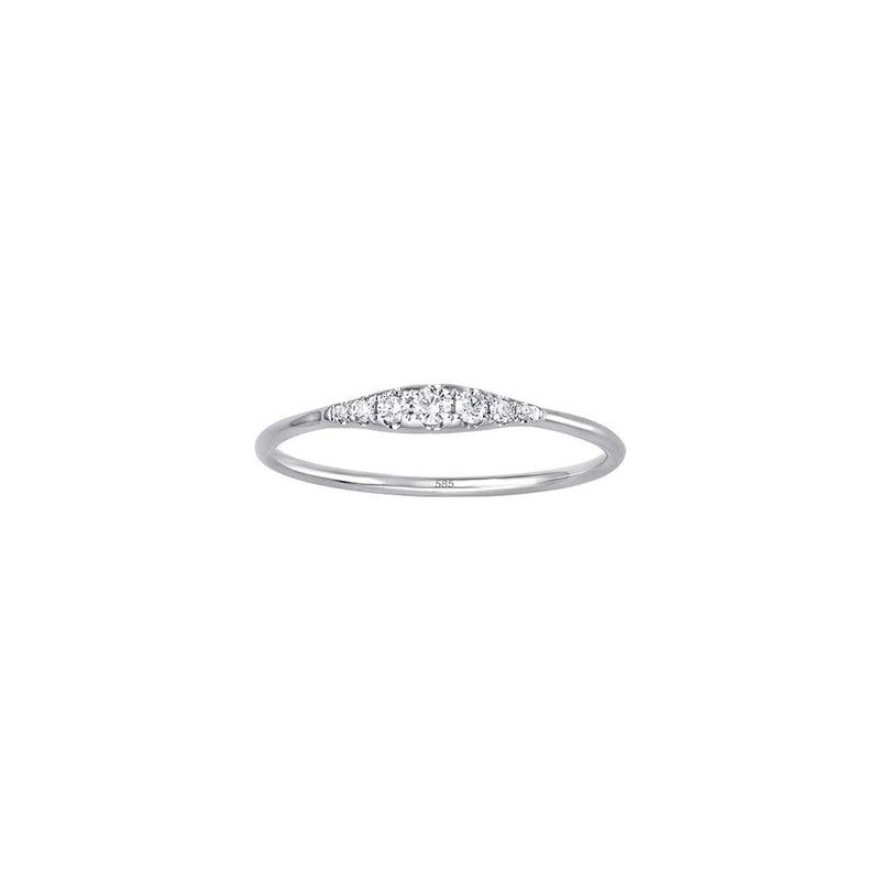 Minimal Diamond Ring - Weissgold mit Brillanten