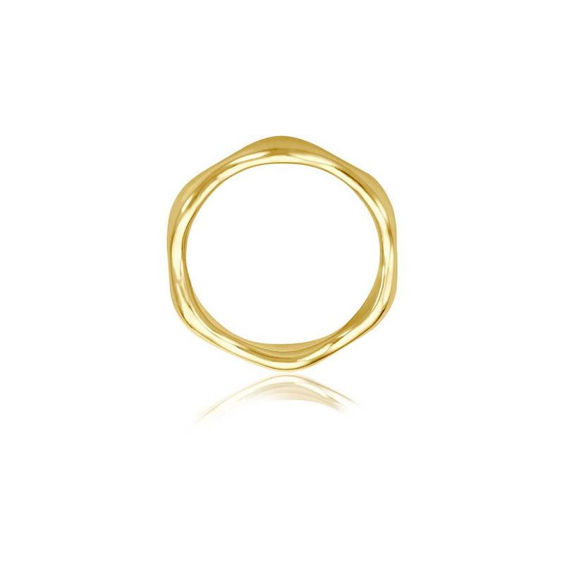 Wave Gold Ring - Gelbgold