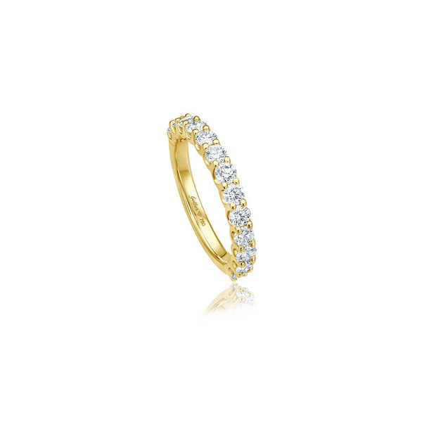 Halb-Memory U-Setting Diamant Ring - 1,00 ct - Gelbgold