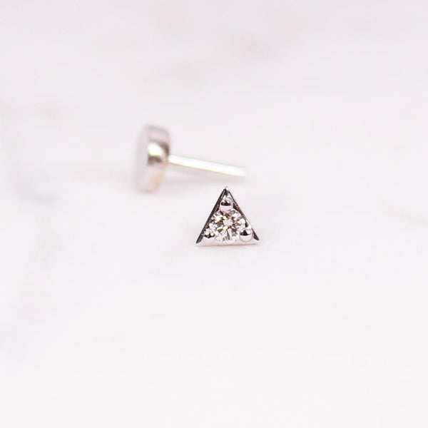 Diamond Triangle Piercing - 0,03 ct - Weißgold