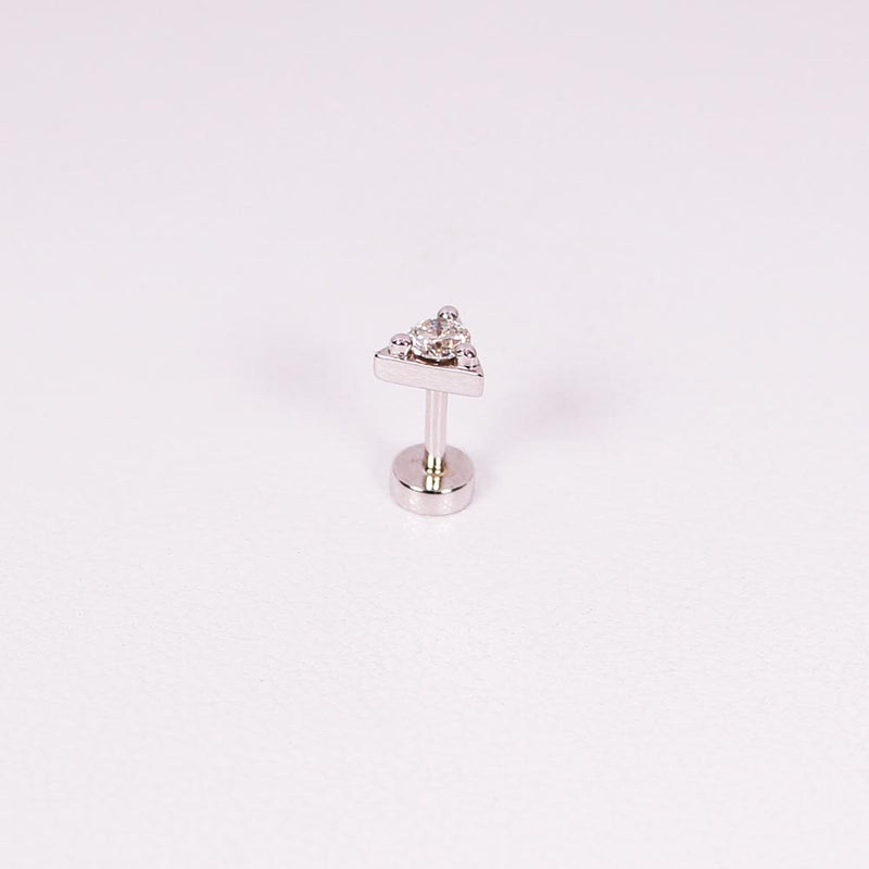 Diamond Triangle Piercing - 0,10 ct - Weißgold
