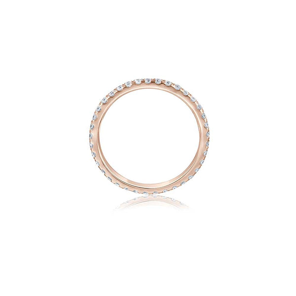 Voll-Memoire Diamant Ring - 0,35 ct - Roségold