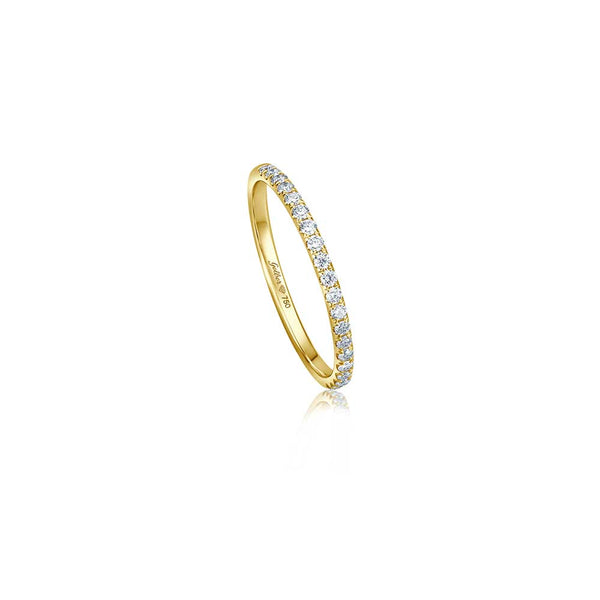 Halb-Memoire Diamant Ring - 0,20 ct - Gelbgold