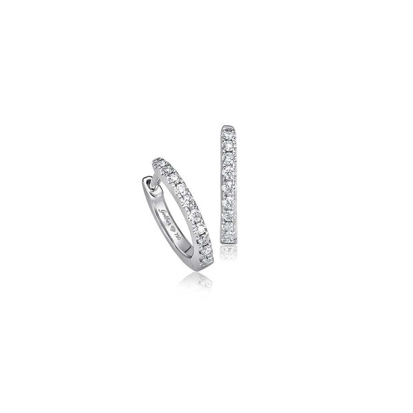 Diamond Hoops - 1,0 cm - Weißgold