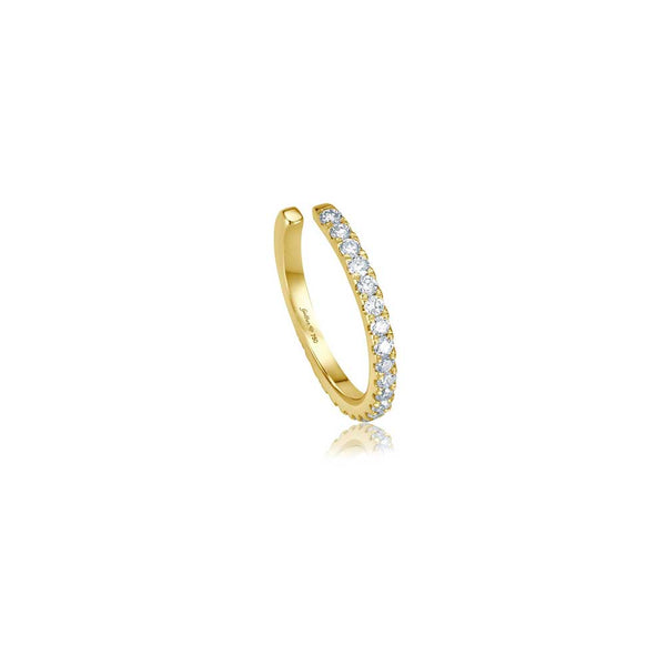 Diamond Single Cuff - Gelbgold