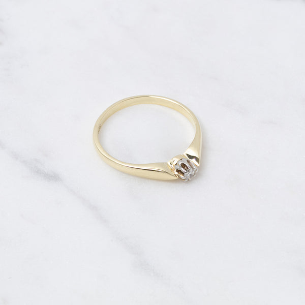 Vintage Ring Brillant - Gelbgold