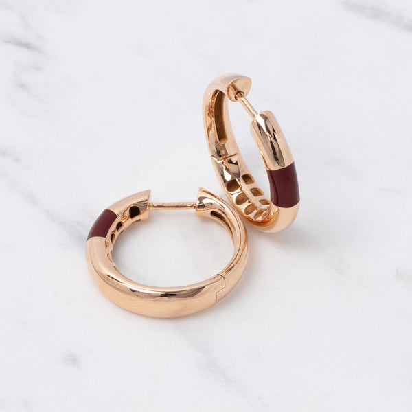 Bold Hoops Emaile - Roségold