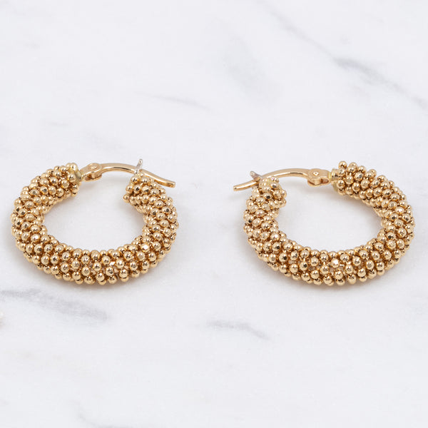 Vintage Chunky Hoops - Gelbgold