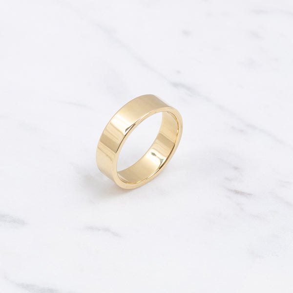 Edge Gold Ring - 5,5mm - Gelbgold