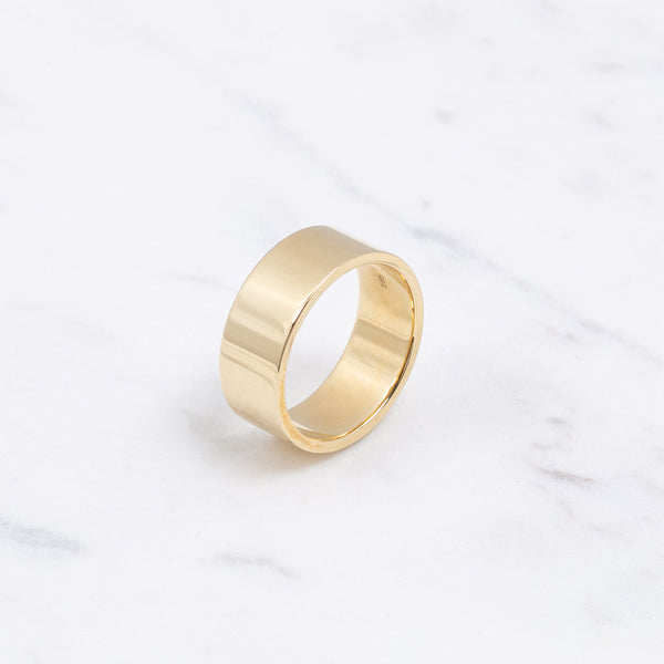 Edge Gold Ring - 7,5mm - Gelbgold