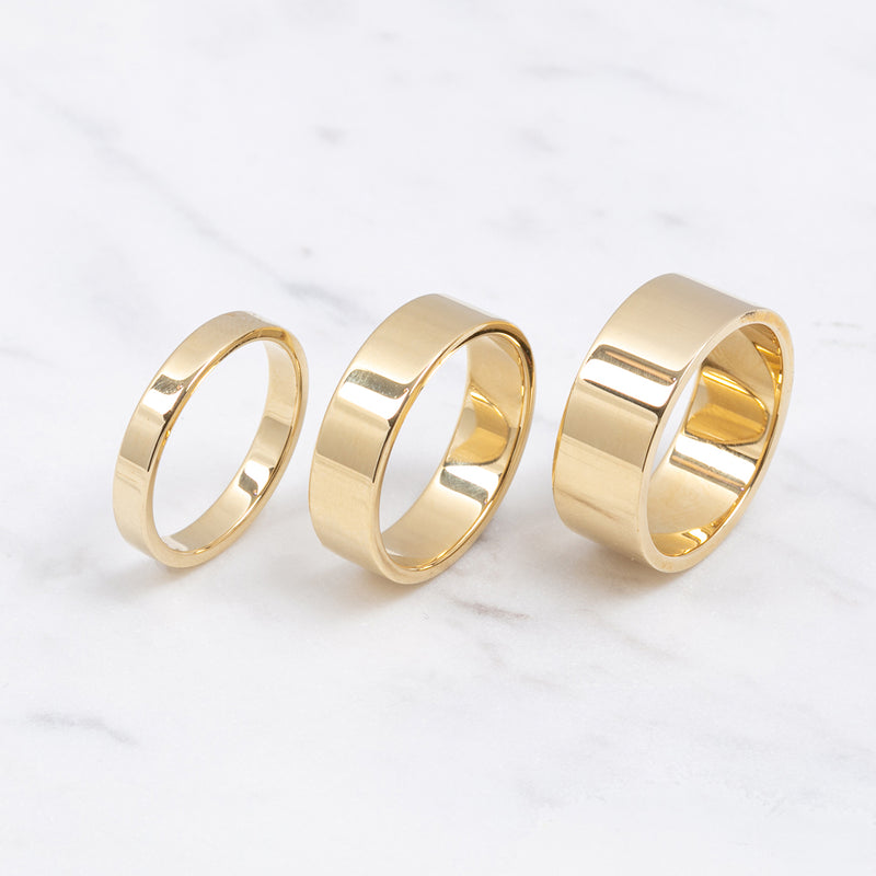 Edge Gold Ring - 3mm - Gelbgold