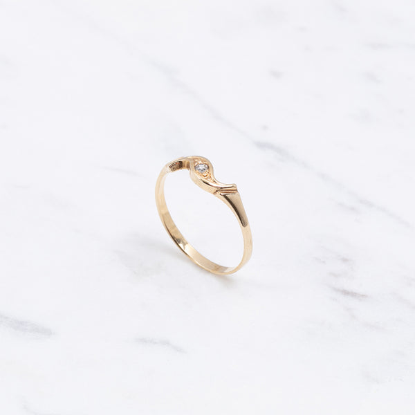 Vintage Ring Diamant Eye - Gelbgold