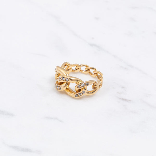 Vintage Ring Diamond Chain - Gelbgold