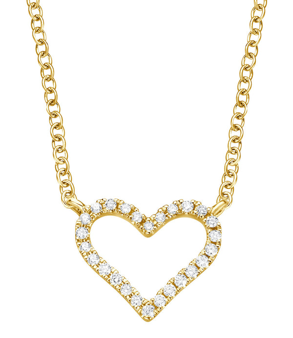 Heart Necklace - Gelbgold mit Brillanten