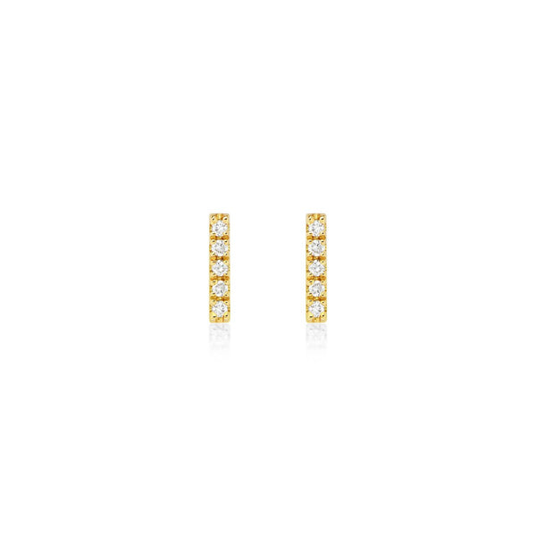 Bar Earrings Yellowgold