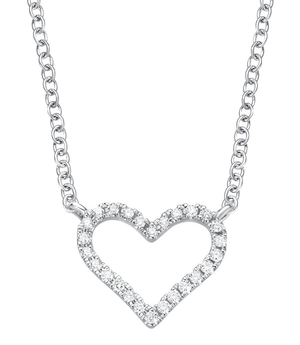 Heart Necklace - Weissgold mit Brillanten