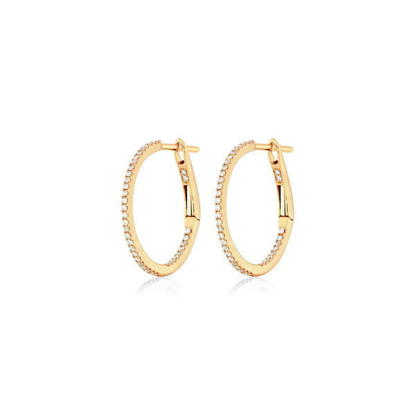 Diamond Hoops Rosegold