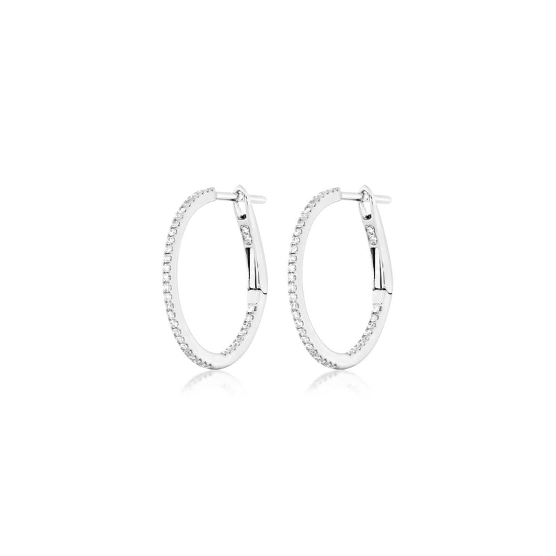 Diamond Hoops Whitegold
