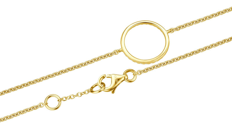 Diamond Circle Armband - Gelbgold