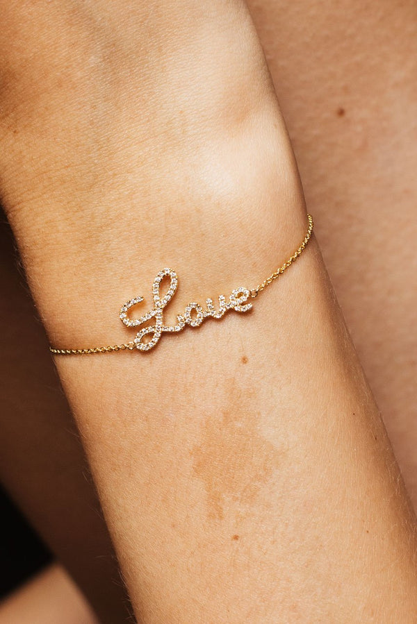 Love Armband - Gelbgold