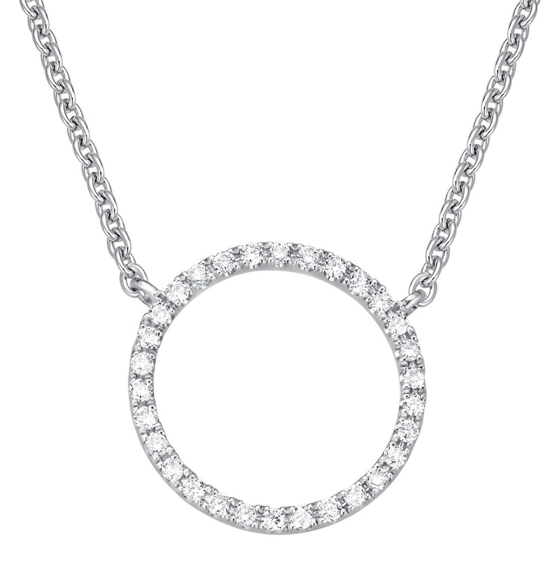 Circle Necklace - Weissgold mit Brillanten