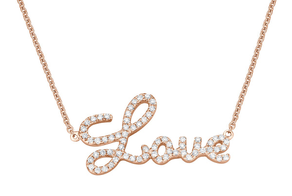 Love Chain - Halskette in Rosegold mit Brillanten