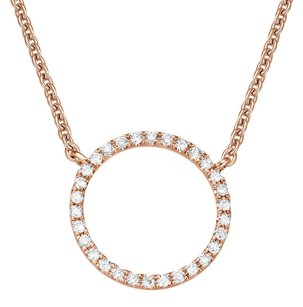 Circle Necklace - Rosegold mit Brillanten