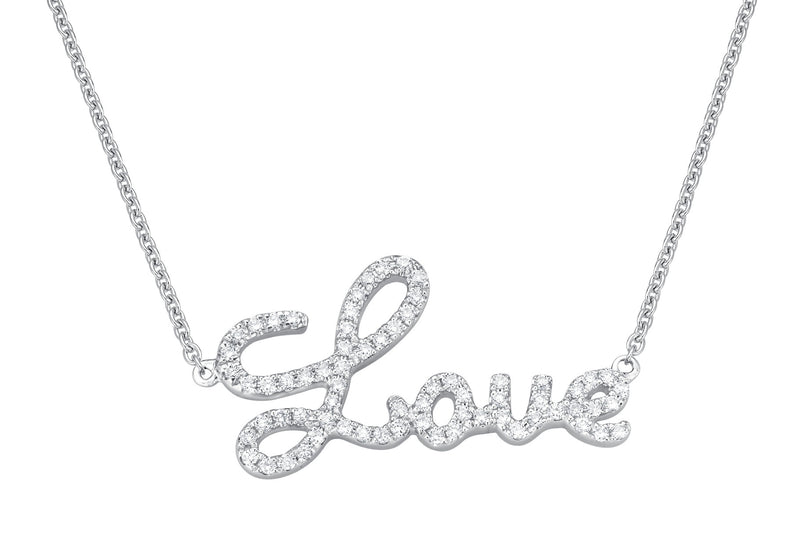 Love Chain - Halskette in Weissgold mit Brillanten