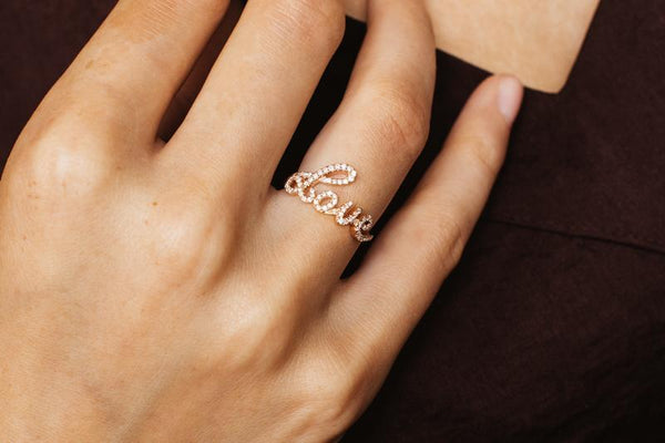 Love Ring - Weissgold