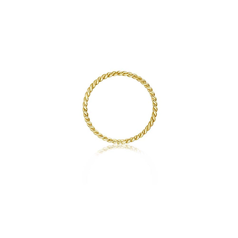 Twisted Ring - Gelbgold