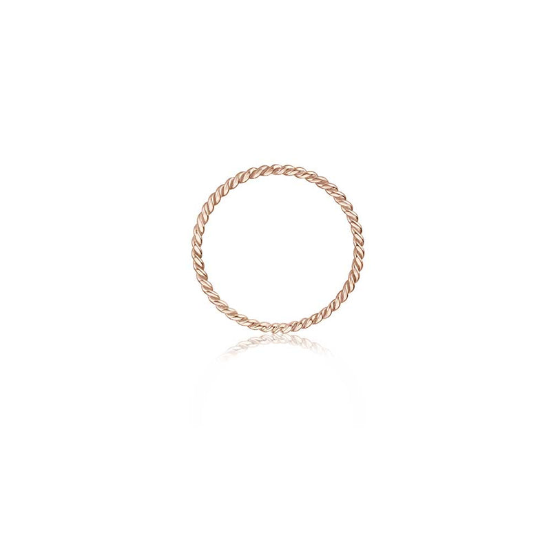 Twisted Ring - Roségold