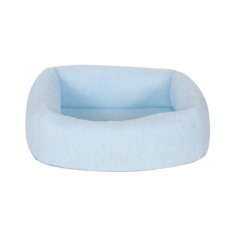 Whiskers 2-in-1 Cat Bed and Cave - Blue