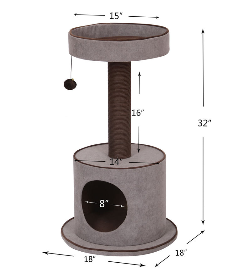 Mink Cat Tree with Perch Dimensions