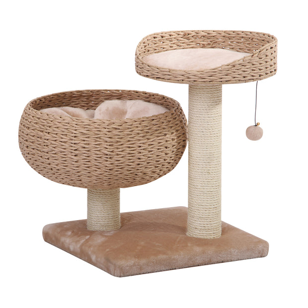 Lioness Natural Rope Cat Tree with Napping Perches