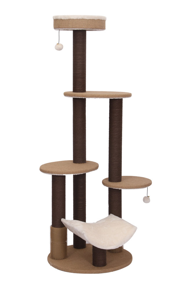 Meo Multi-Level Cat Tower with Rubber Massager