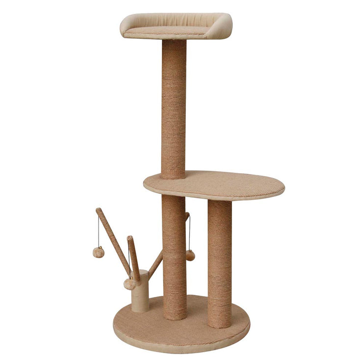 Bonnie Natural Jute Cat Tree with Play Center