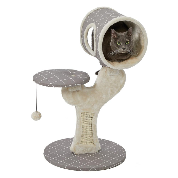 Cheshire Modern Cat Tree with Hideaway