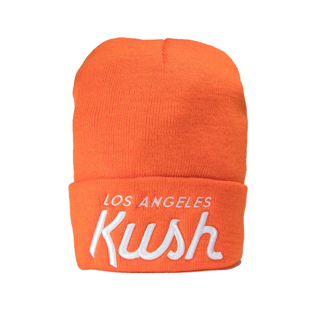 LA Kush OG Beanie - Orange/White