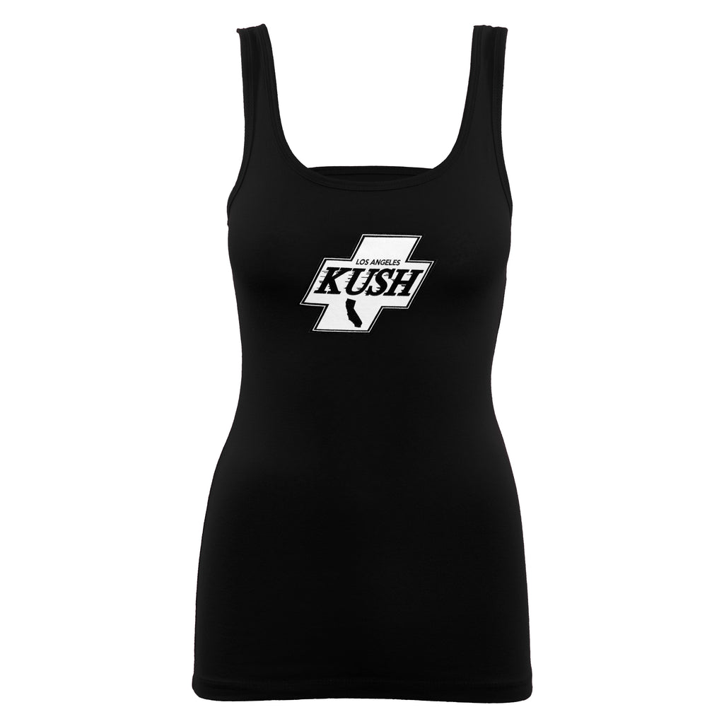 LA Kush Cross Women's Tank - Black/White