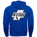 LA Kush Cross Zip-Up Hoodie - Blue/White