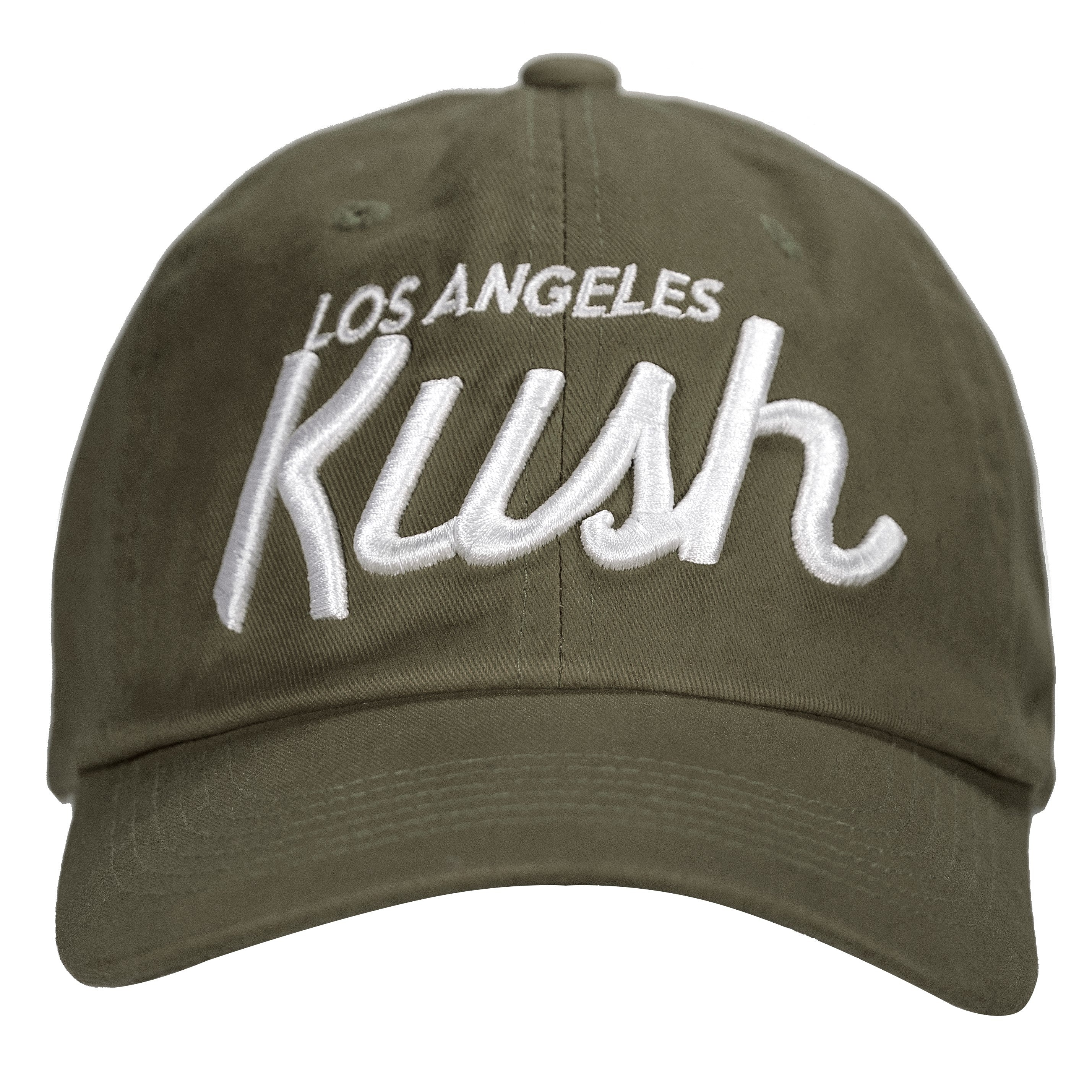 LA Kush OG Dad Hat - Olive/White