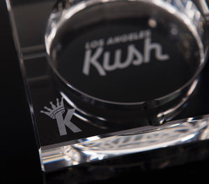 "LA Kush ""K"" Krown Ashtray - Clear/White"