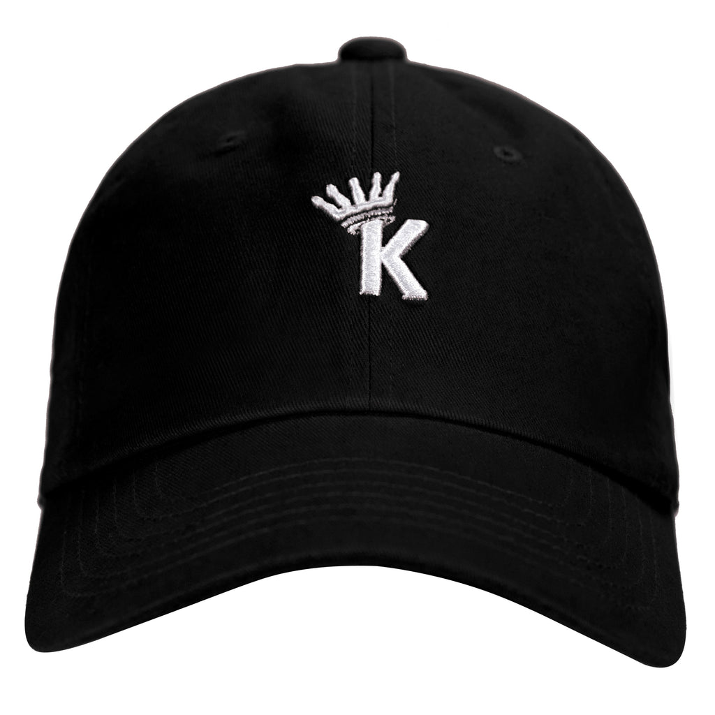 """K"" Krown Dad Hat - Black/White"