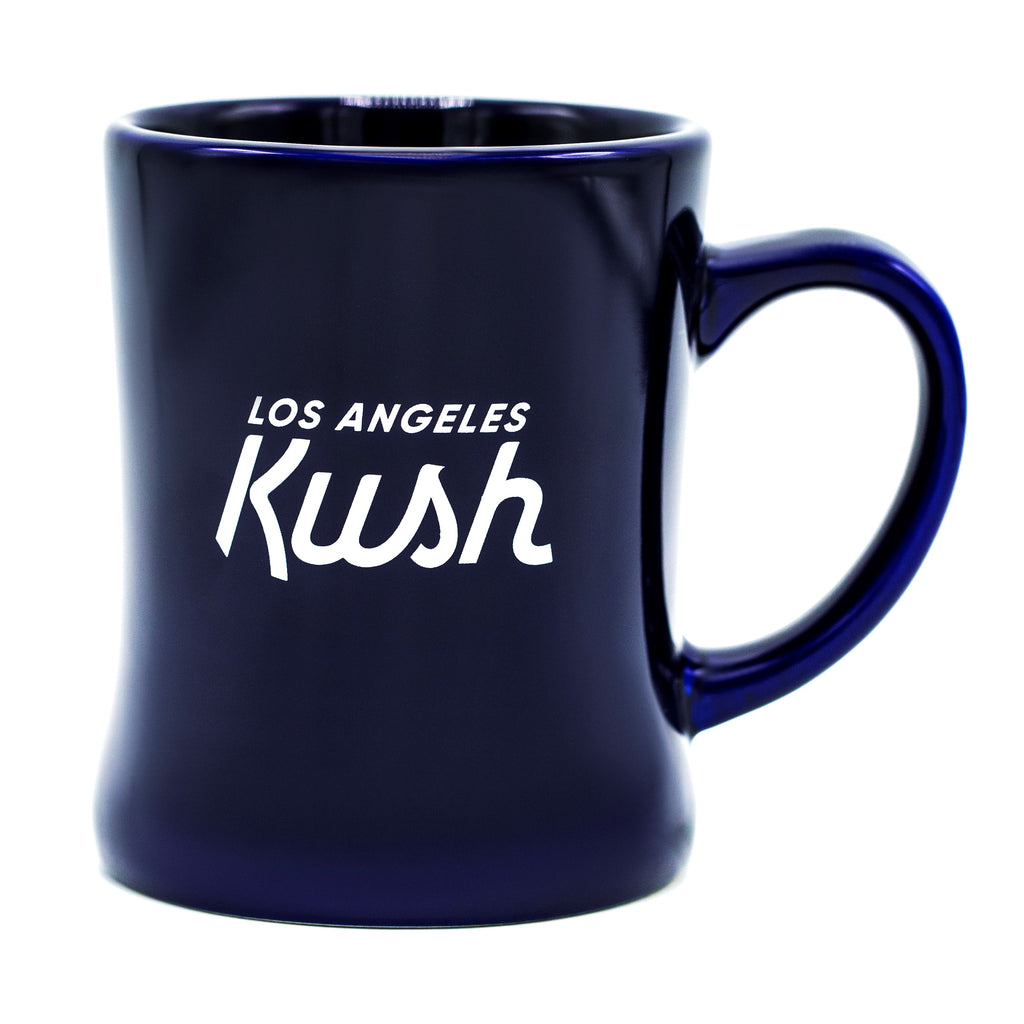 """K"" Krown Mug - Blue/White"