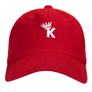 """K"" Krown Dad Hat - Red/White"