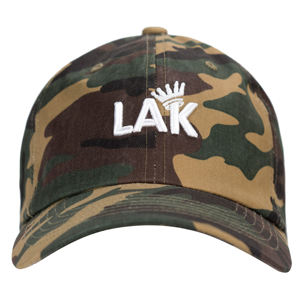LA Kush Krown Dad Hat - Camo/White