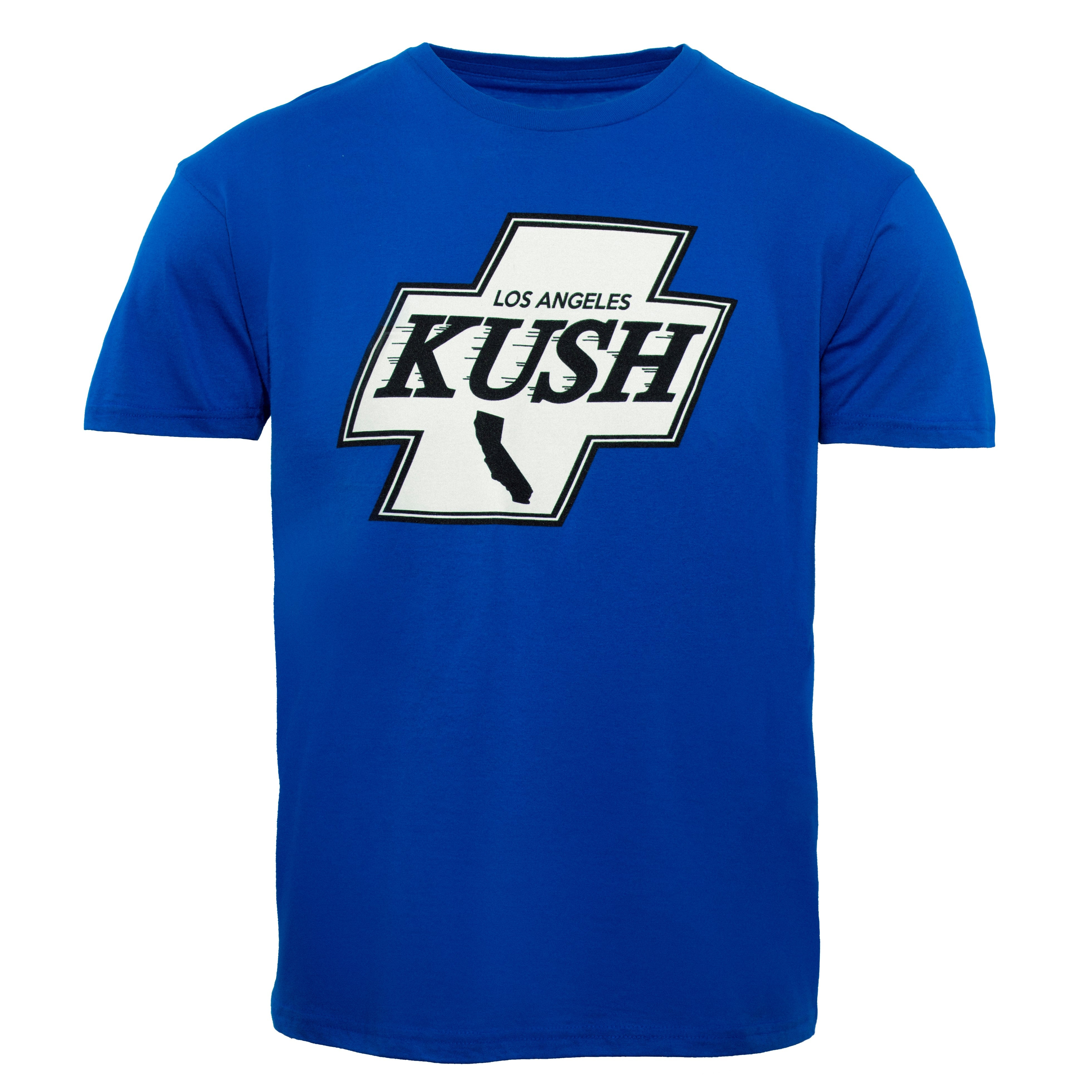 LA Kush Cross Tee - Blue/White