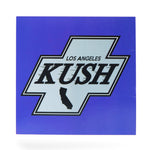 LA Kush Cross Sticker - Blue/White